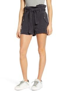 BLANKNYC Paperbag Waist Patch Pocket Shorts