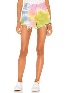 BLANKNYC Pastel Tie Dye Barrow High Rise Denim Short