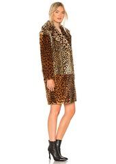 BLANKNYC Patchwork Faux Fur Coat
