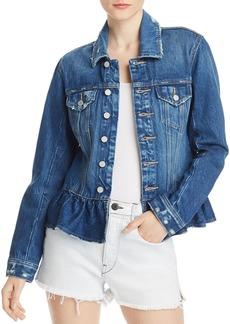 BLANKNYC Peplum Denim Jacket