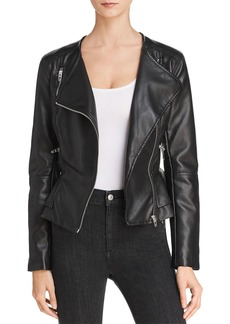 BLANKNYC Peplum Faux Leather Moto Jacket - 100% Exclusive