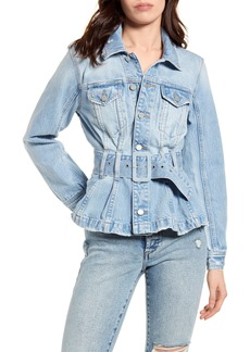 BLANKNYC Pleated Denim Trucker Jacket