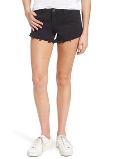 BLANKNYC Pucker Up Fray Hem Cutoff Denim Shorts