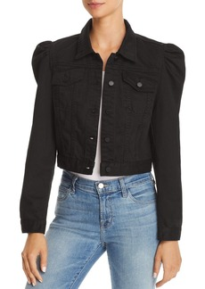 BLANKNYC Puff-Sleeve Cropped Denim Jacket - 100% Exclusive