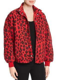 BLANKNYC Quilted Cheetah Print Jacket