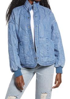 BLANKNYC Quilted Denim Puffer Jacket