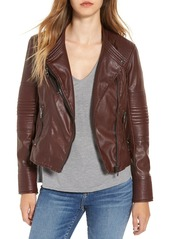 BLANKNYC Quilted Faux Leather Moto Jacket