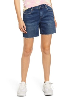 BLANKNYC Raw Hem Denim Shorts (Bayou Blues)