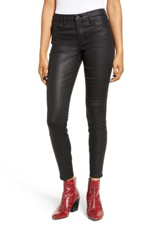 BLANKNYC Reptile Texture Coated Mid Rise Jeggings