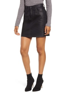 BLANKNYC Reptile Texture Coated Miniskirt