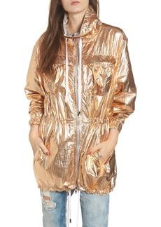 BLANKNYC Reversible Metallic Long Jacket
