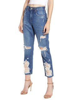 BLANKNYC Ripped Crop Mom Jeans (People's Champ)