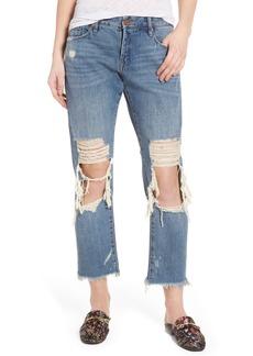 BLANKNYC Ripped Girlfriend Jeans (Full Smash)