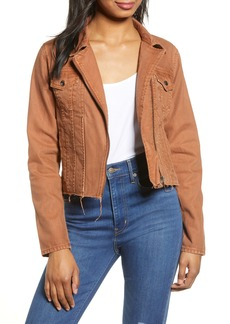BLANKNYC Rust Denim Moto Jacket (Amber)