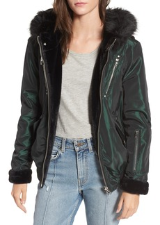 BLANKNYC Sailor Reversible Faux Fur Trim Jacket