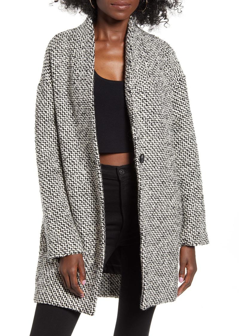 BLANKNYC Say Anything Tweed Coat