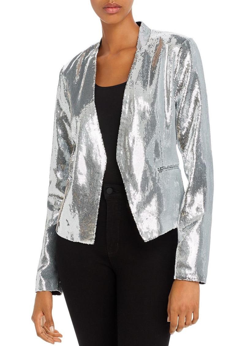 BLANKNYC Sequined Open-Front Blazer