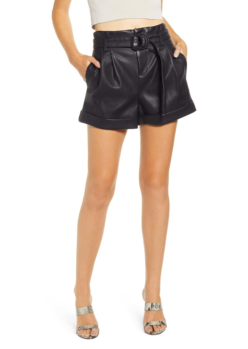 BLANKNYC Sinister Faux Leather Shorts