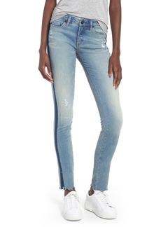 BLANKNYC Slit Hem Skinny Jeans (Battle Lines)