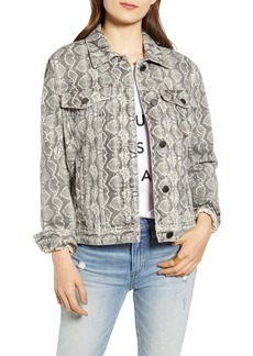 BLANKNYC Snake Print Denim Jacket