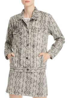 BLANKNYC Snake Print Denim Jacket