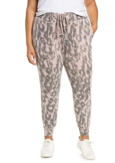 BLANKNYC Soft n' Easy Leopard Joggers (Plus Size)