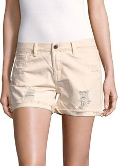 BLANKNYC Solid Five-Pocket Cotton Shorts