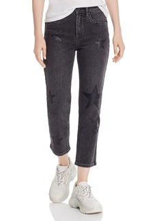 BLANKNYC Star-Appliqu� Straight-Leg Jeans in Ever After