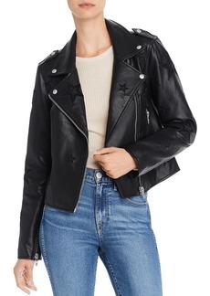 BLANKNYC Star Faux Leather Biker Jacket