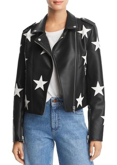 BLANKNYC Star Faux Leather Moto Jacket