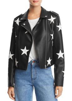 BLANKNYC Star Faux Leather Moto Jacket