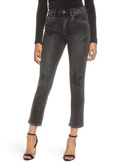 BLANKNYC Star Patch Crop Skinny Jeans (Before and After)