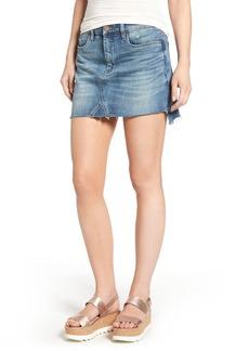 BLANKNYC Step Hem Denim Miniskirt