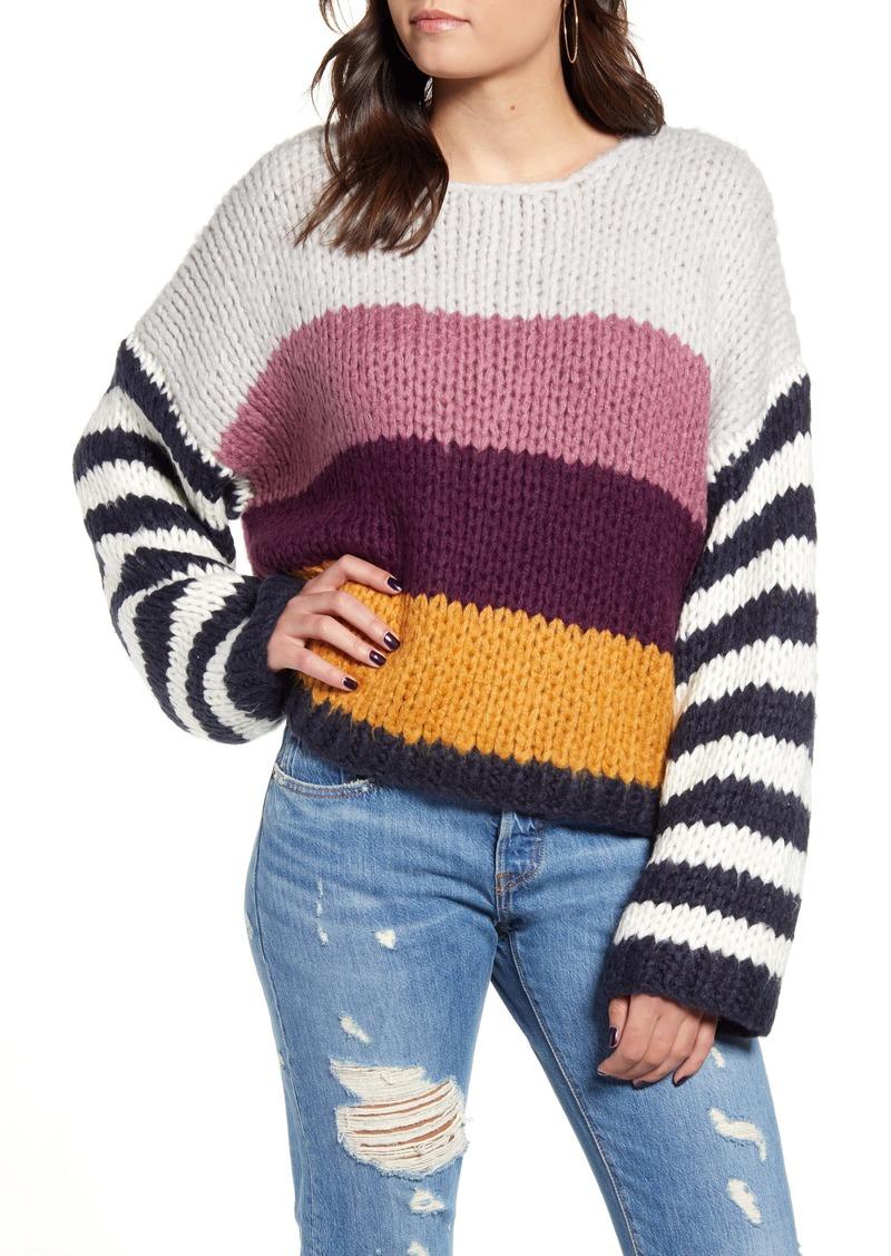 BLANKNYC Stripe Oversize Sweater