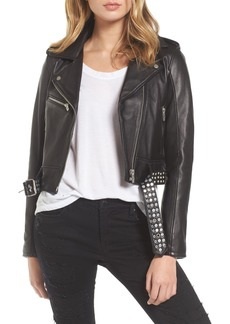 BLANKNYC Studded Leather Moto Jacket