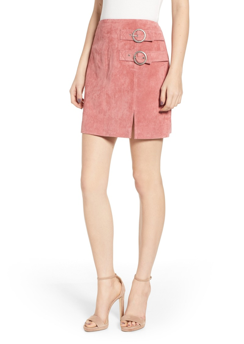 BLANKNYC Suede Buckle Skirt