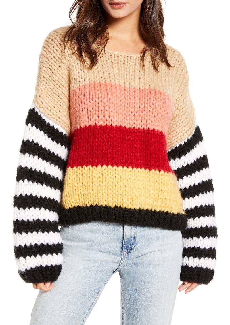 BLANKNYC Sweetheart Stripe Sweater