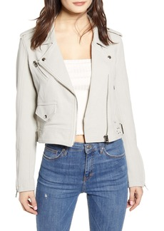 BLANKNYC Textured Cotton Moto Jacket