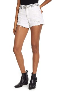 BLANKNYC The Barrow Belted Distressed Denim Shorts (Head in the Clouds)
