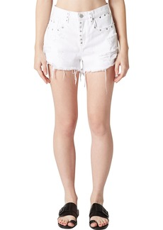 BLANKNYC The Barrow Grommet Detail Denim Shorts (Lightbox)