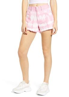 BLANKNYC The Barrow Tie Dye Denim Shorts (Bubble Pink)