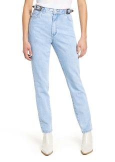 BLANKNYC The Bleeker Buckle High Waist Slim Jeans (Wild Wild West)