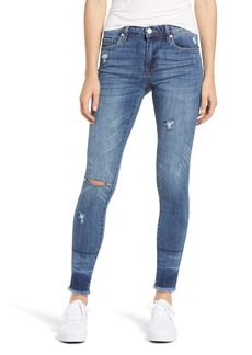 BLANKNYC The Bond Distressed High Waist Ankle Skinny Jeans (Low Blow)