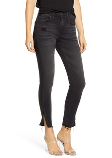 BLANKNYC The Bond Side Zip Raw Hem Nonstretch Skinny Jeans (Superwoman)