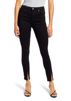 BLANKNYC The Bond Slit Hem High Waist Ankle Skinny Jeans (Night Mania)