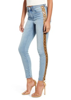 BLANKNYC The Bond Snake Stripe Skinny Jeans (Ms. Brightside)