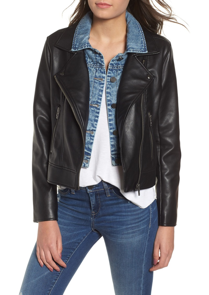 2db3bec5a Blank BLANKNYC The Cool Kid Faux Leather Moto Jacket | Outerwear