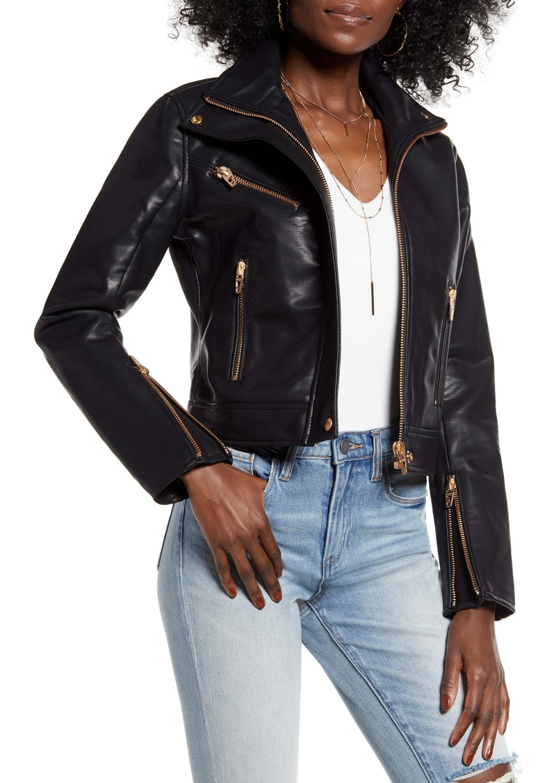 BLANKNYC The Essentials Faux Leather Moto Jacket