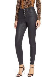 BLANKNYC The Great Jones Coated High Waist Ankle Skinny Jeans (Saturn)