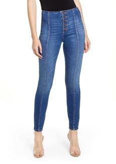 BLANKNYC The Great Jones Seam Detail Skinny Jeans (Radio Silence)